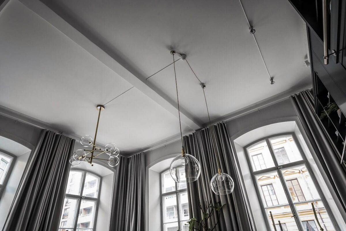 mẫu thiết kế nội thất chung cư hiện đại với gam màu xám 5