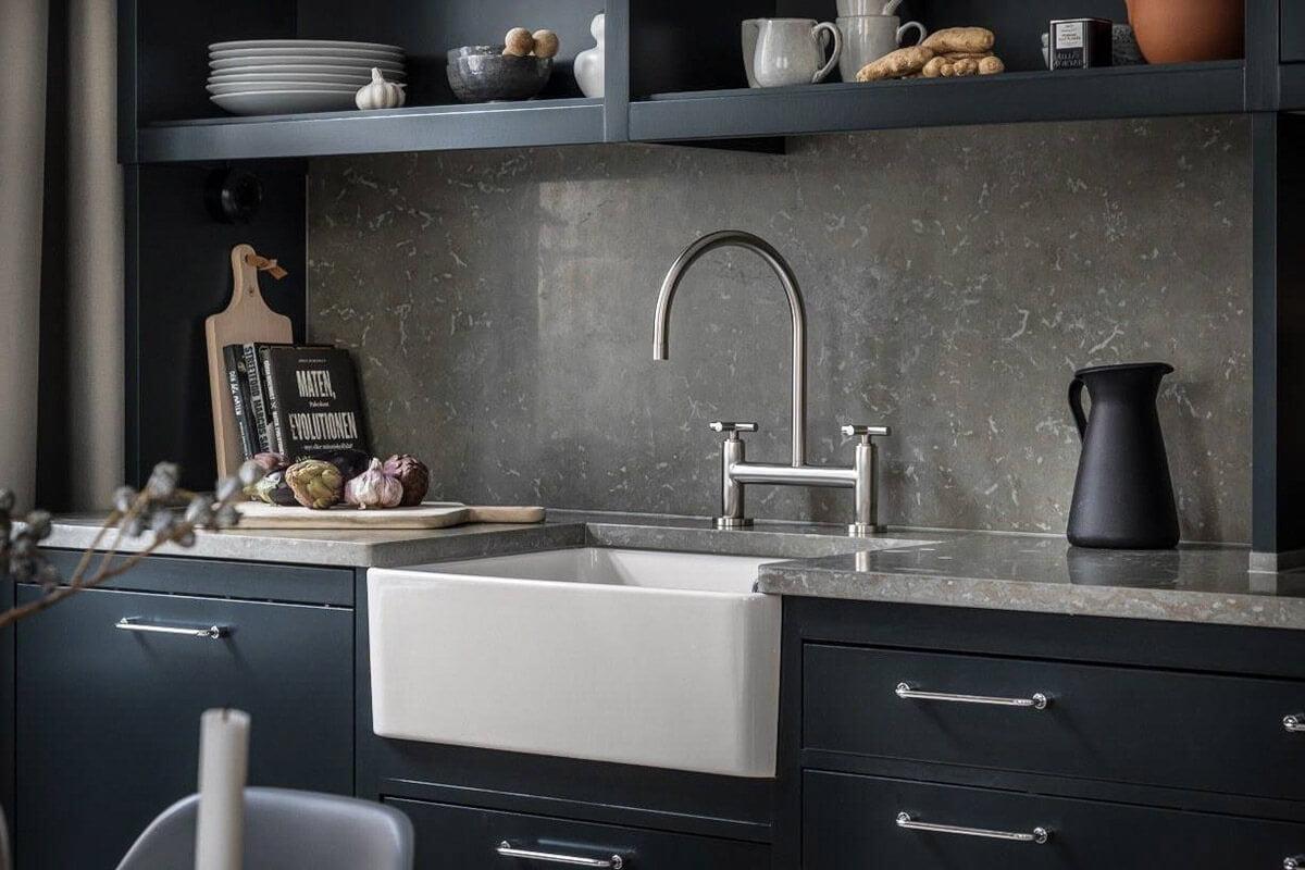 mẫu thiết kế nội thất chung cư hiện đại với gam màu xám 7
