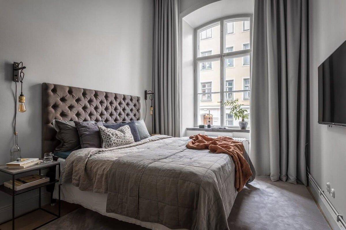 mẫu thiết kế nội thất chung cư hiện đại với gam màu xám 8