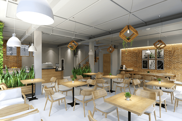 mẫu thiết kế quán cafe đẹp 3