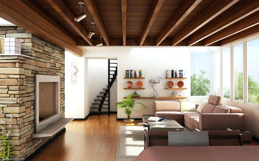 mẫu trần gỗ phòng khách 24