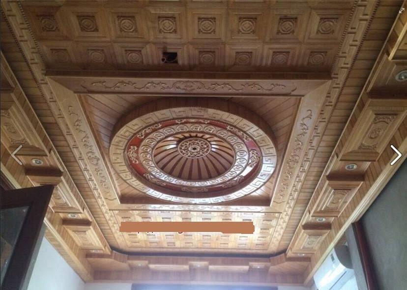 mẫu trần gỗ phòng khách 3