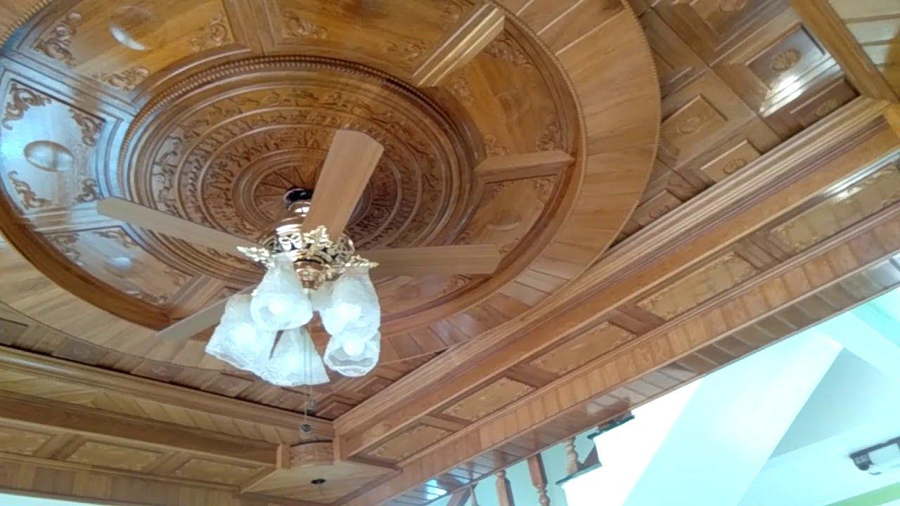 mẫu trần gỗ phòng khách 8
