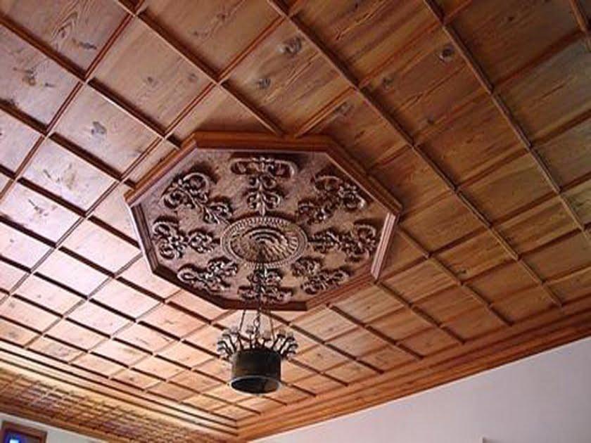 mẫu trần gỗ phòng khách 9