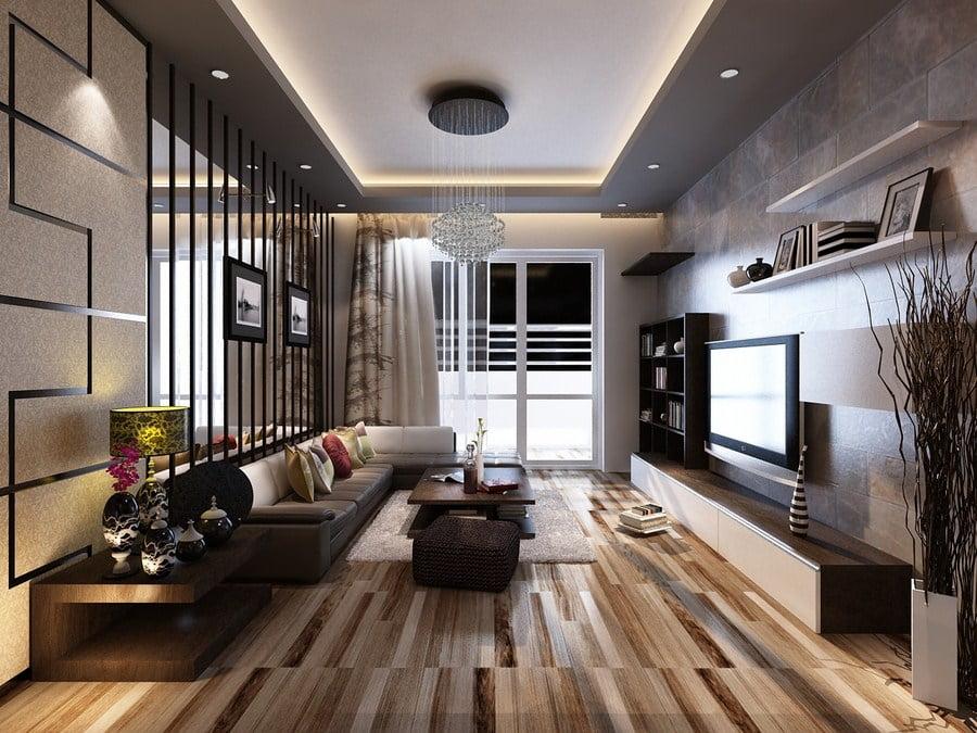 mẫu trần thạch cao phòng khách nhà ống đẹp 10