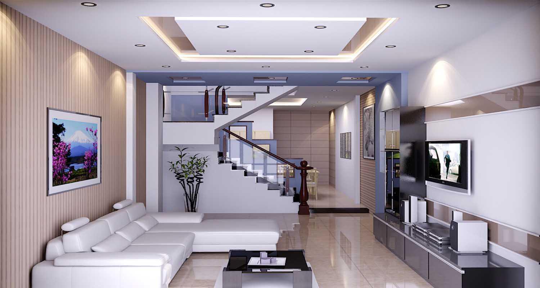 mẫu trần thạch cao phòng khách nhà ống đẹp 12