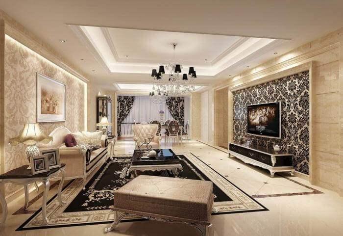 mẫu trần thạch cao phòng khách nhà ống đẹp 17