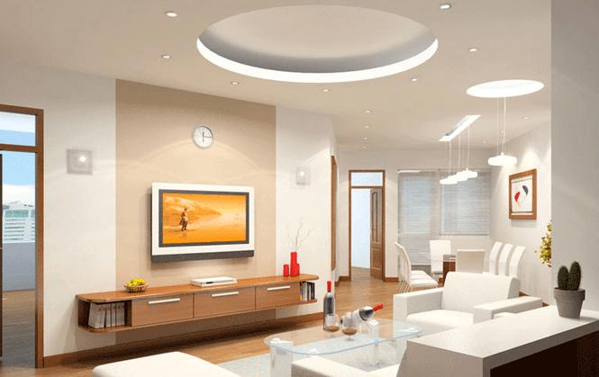 mẫu trần thạch cao phòng khách nhà ống đẹp 3