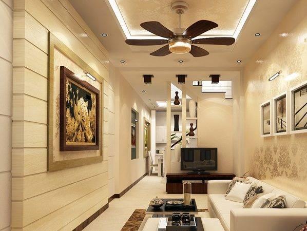 mẫu trần thạch cao phòng khách nhà ống đẹp 5