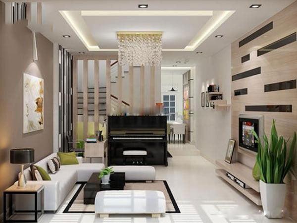 mẫu trần thạch cao phòng khách nhà ống đẹp 7