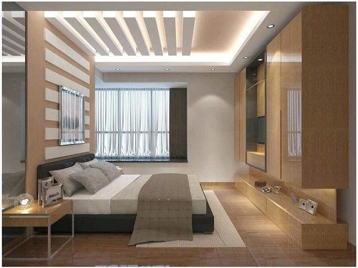 mẫu trần thạch cao phòng ngủ đẹp 12
