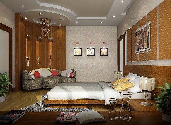mẫu trần thạch cao phòng ngủ đẹp 13