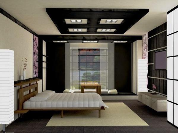 mẫu trần thạch cao phòng ngủ đẹp 18