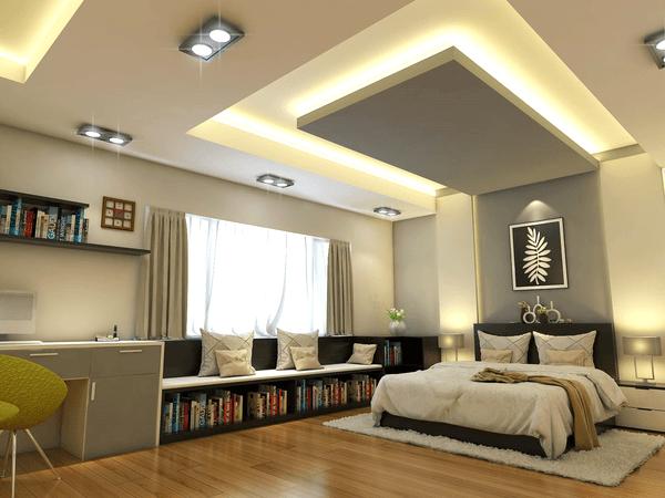 mẫu trần thạch cao phòng ngủ đẹp 23