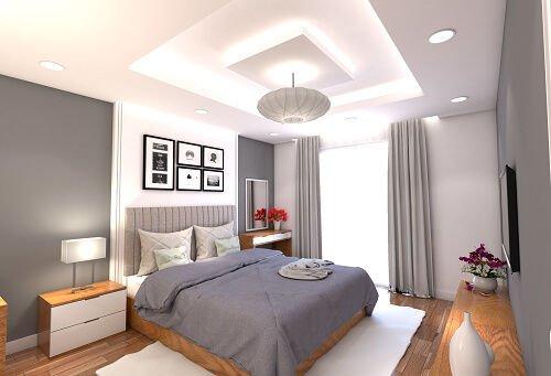mẫu trần thạch cao phòng ngủ đẹp 24