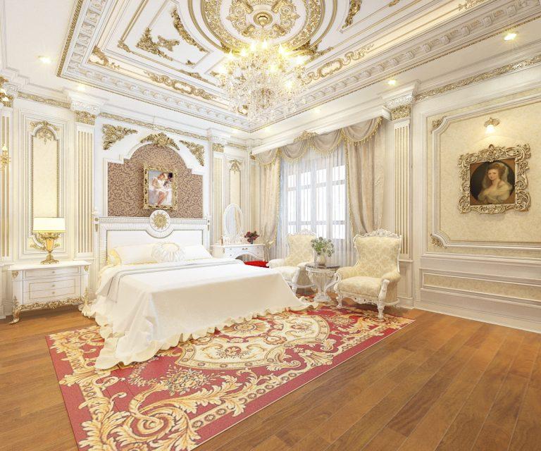 mẫu trần thạch cao phòng ngủ đẹp 4