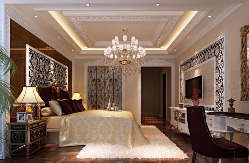mẫu trần thạch cao phòng ngủ đẹp 6