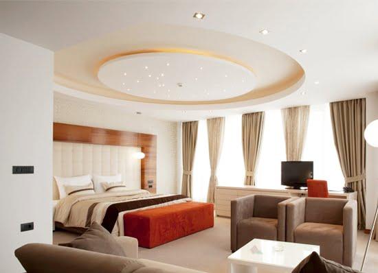 trần thạch cao phòng ngủ đơn giản 14