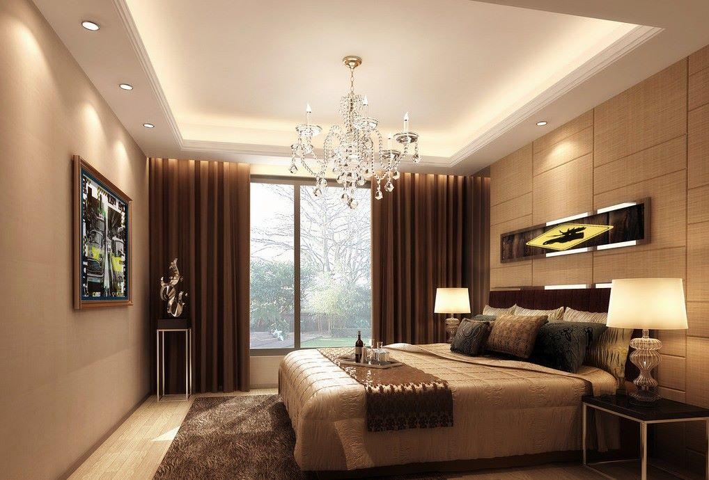 trần thạch cao phòng ngủ đơn giản 2
