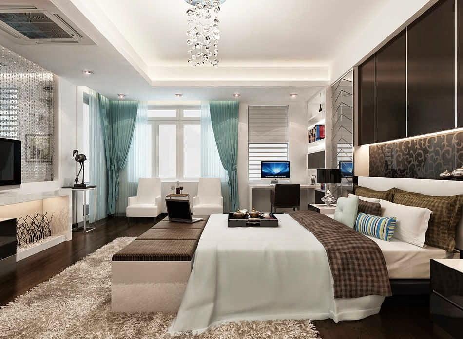 trần thạch cao phòng ngủ đơn giản 4