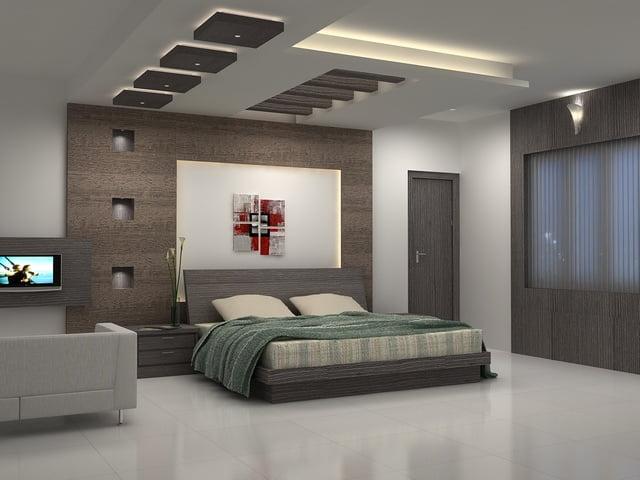 trần thạch cao phòng ngủ đơn giản 8