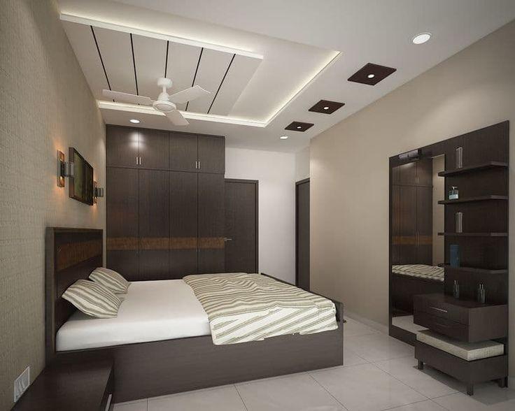 trần thạch cao phòng ngủ đơn giản 9