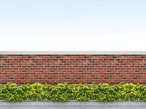 mẫu tường rào xây gạch