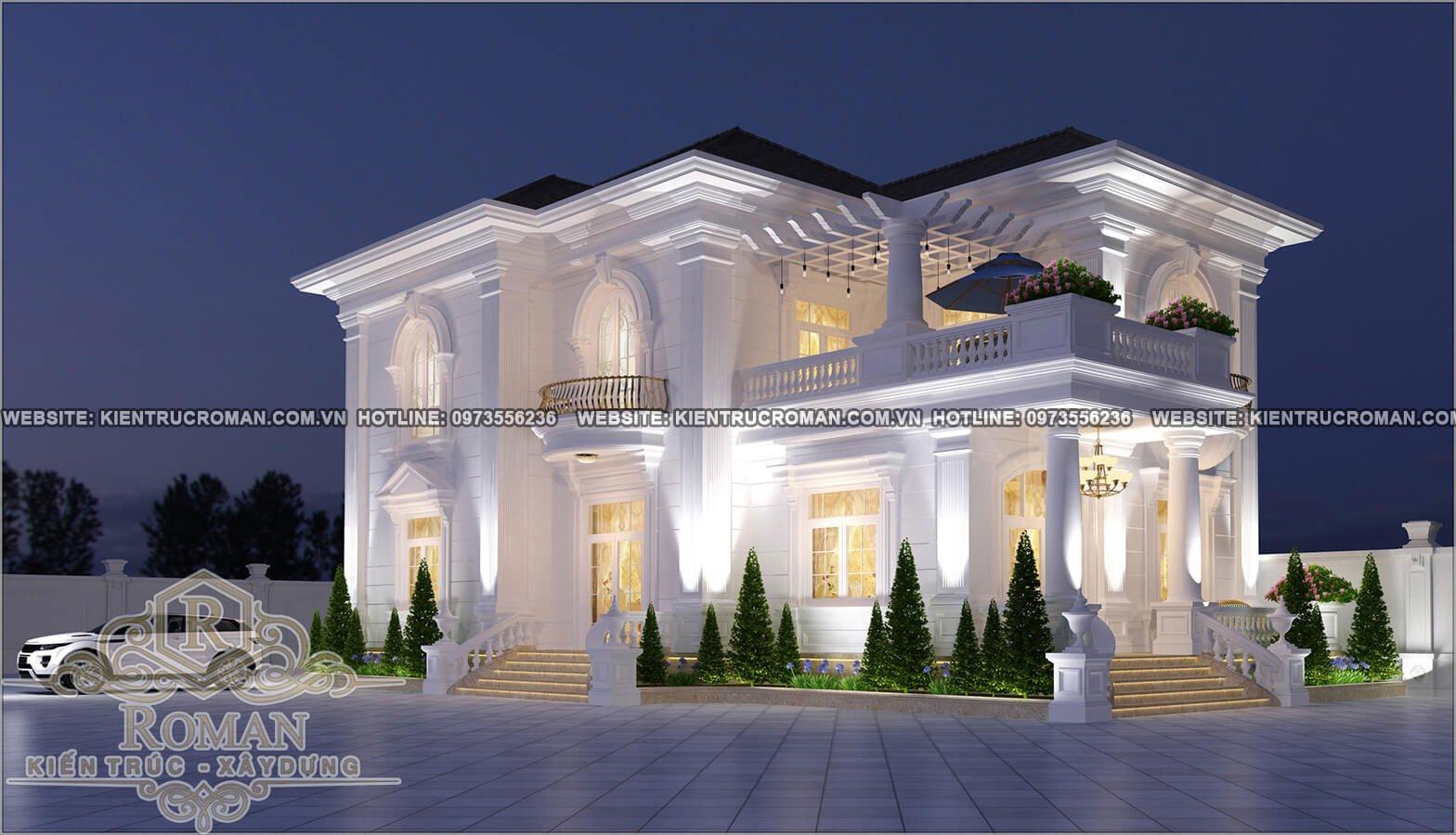 Mê mẫn với mẫu thiết kế biệt thự 2 tầng tân cổ điển hot nhất hiện nay