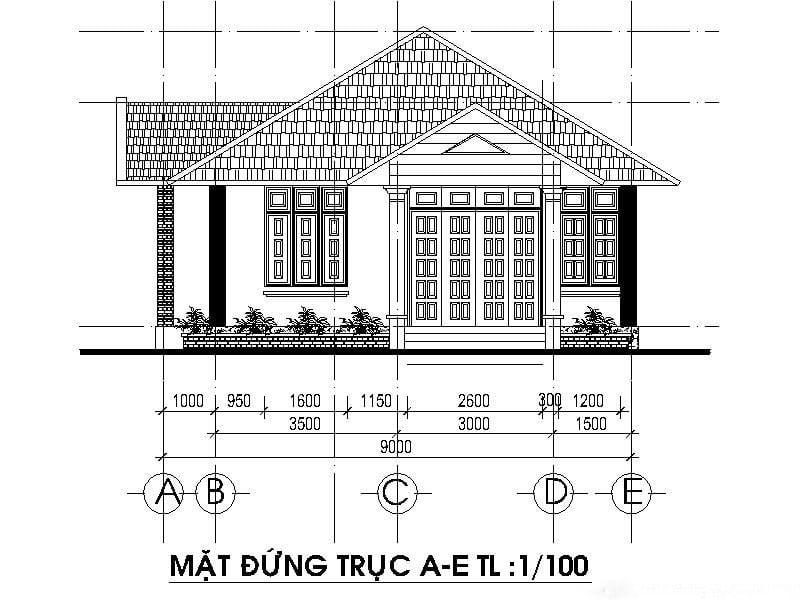 mua bản vẽ thiết kế nhà ở 2