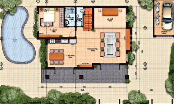 nhà biệt thự 2 tầng