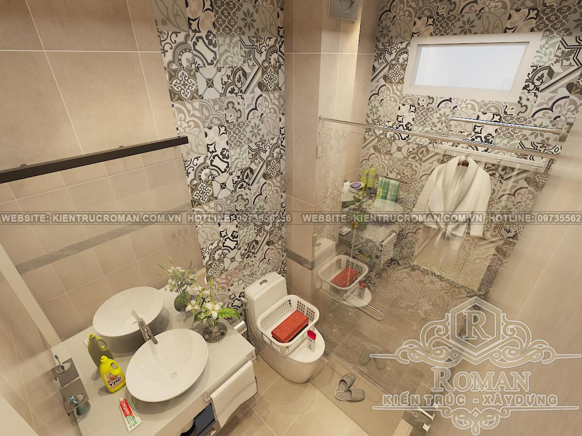 phòng ngủ nhà 2 tầng mái thái đẹp phong tân cổ điển 3