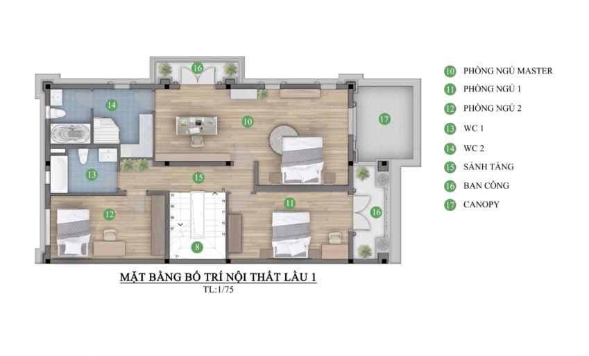 nhà biệt thự 3 tầng
