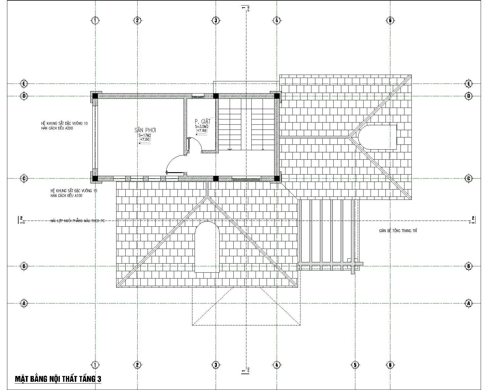 thiết kế nhà biệt thự 3 tầng mái thái đẹp 7