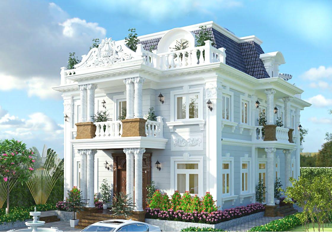 nhà biệt thự cổ điển Châu Âu