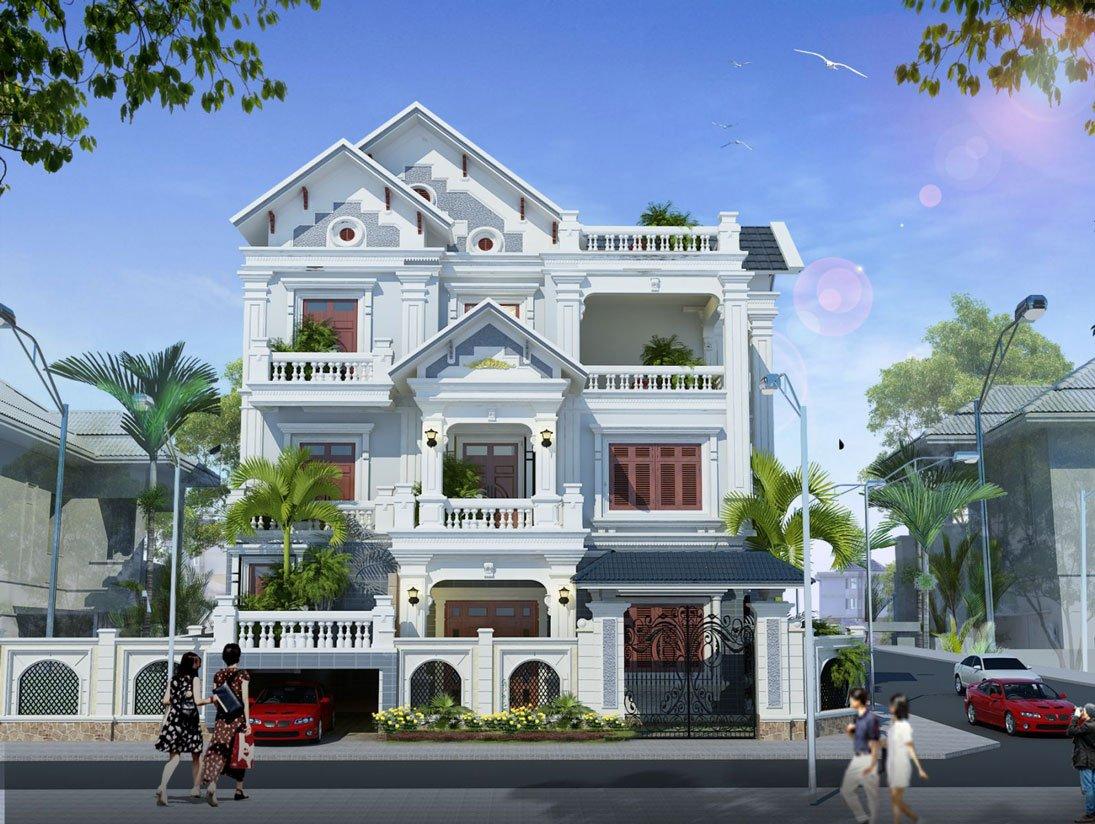 nhà biệt thự kiểu pháp 3 tầng 4