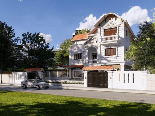 6 Mẫu nhà biệt thự kiểu pháp 3 tầng đẹp tinh tế và đầy kiêu sa