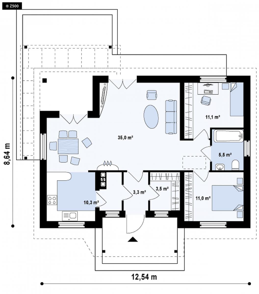 hà cấp 4 2 phòng ngủ 1 phòng khách 6