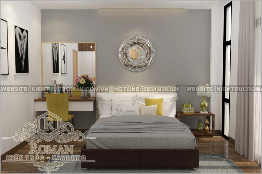 nhà đẹp 2 tầng 1 tum phòng ngủ master