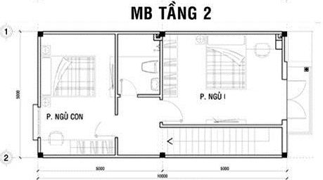 thiết kế nhà 2 tầng giá 400 triệu 10