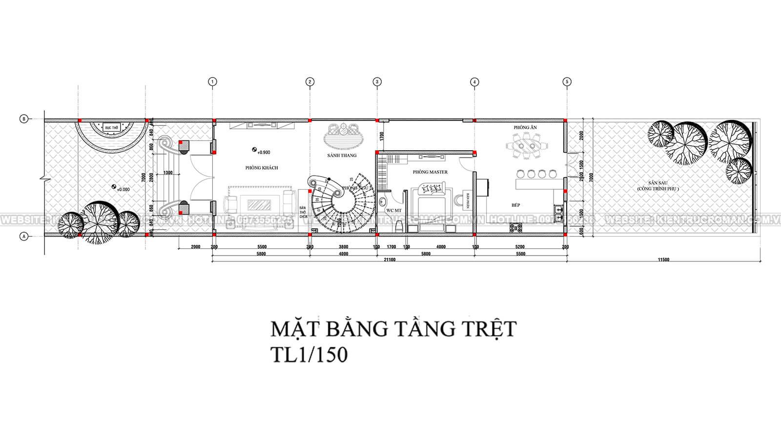 nhà kiểu pháp 2 tầng