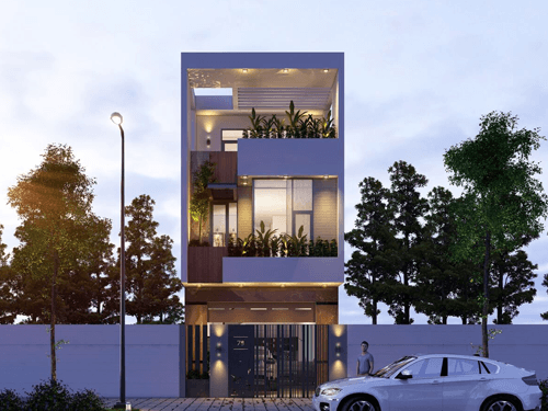Thiết kế nhà lệch tầng 5x20m 3 tầng không gian mở mát mẻ