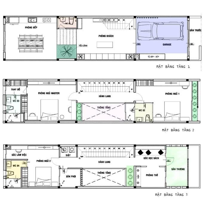 nhà lệch tầng 5x20 2