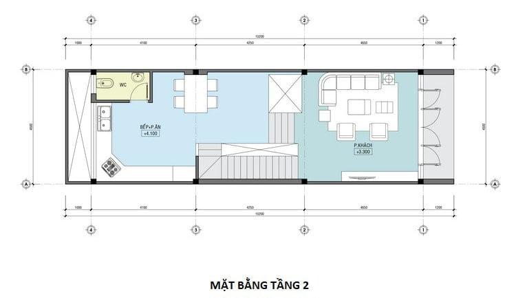 nhà lệch tầng đẹp 5m 5