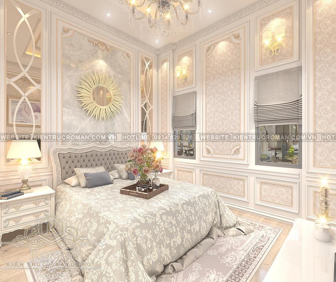 nhà mái thái 2 tầng đẹp phòng ngủ master