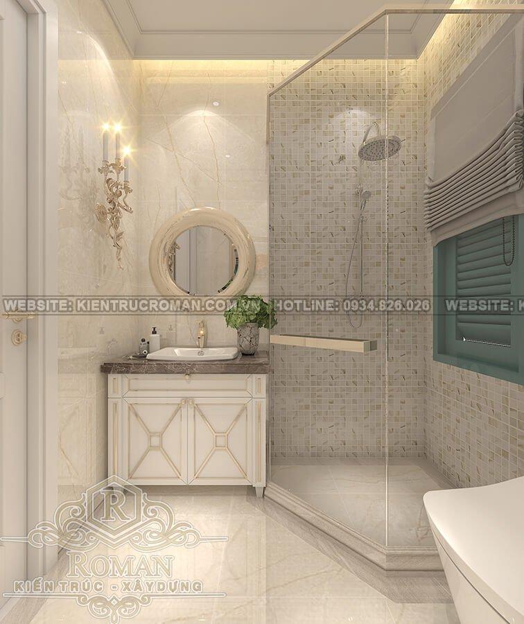 nhà mái thái 2 tầng đẹp phòng tắm