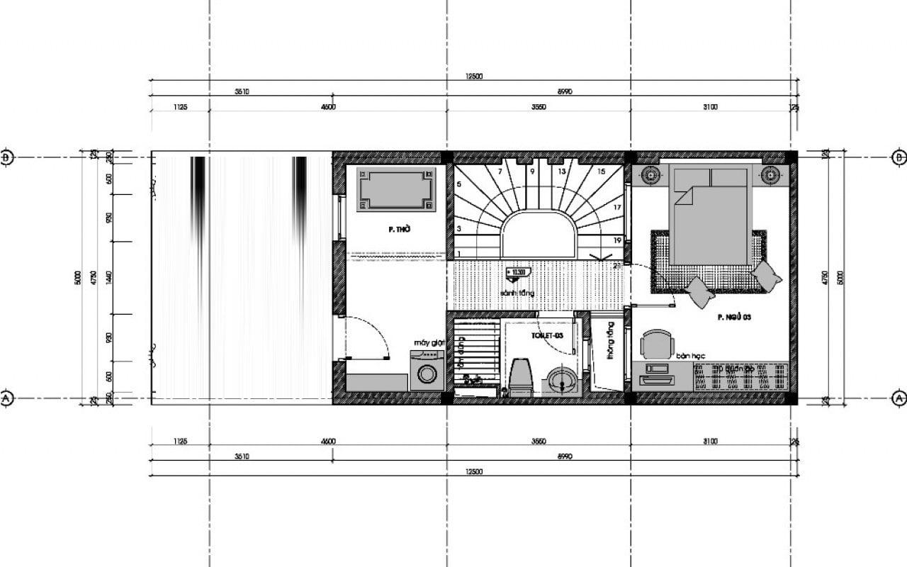 nhà ở song lập bản vẽ