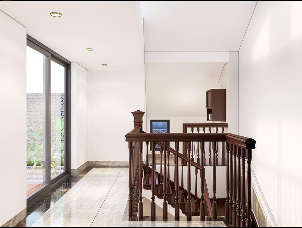 nhà ở song lập hiện đại cầu thang