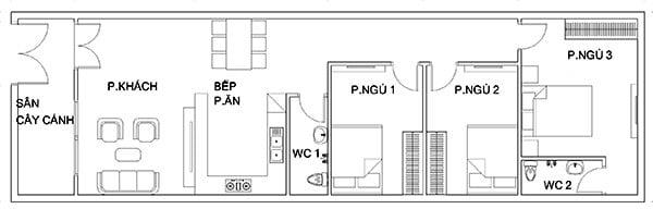 nhà ống 1 tầng 5x20 3