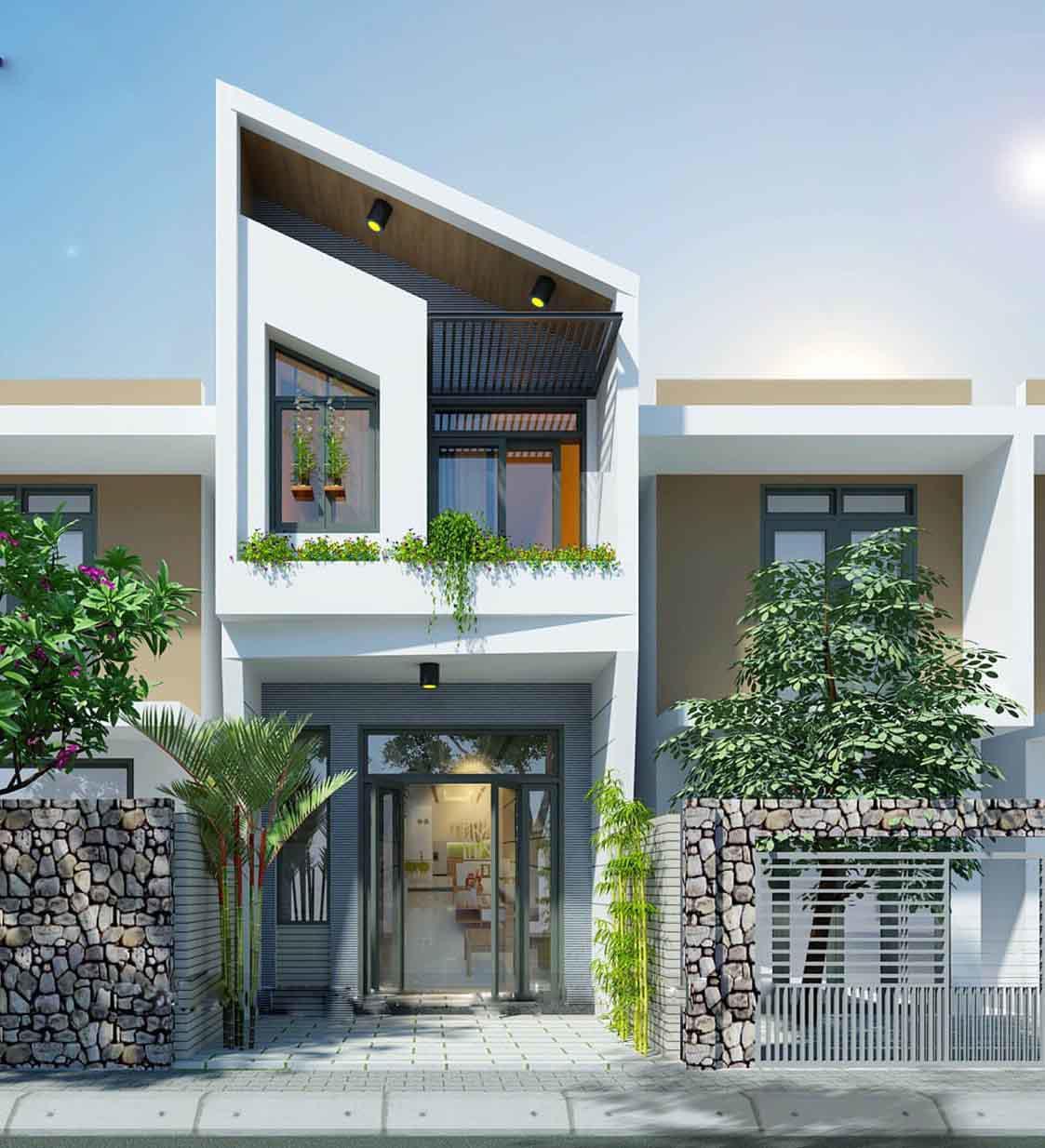 thiết kế nhà 2 tầng giá 400 triệu 2