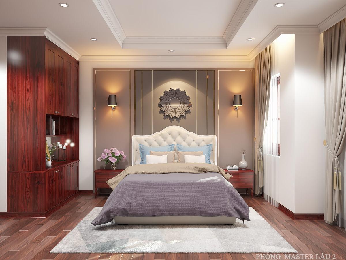 nhà ống tân cổ điển 4 tầng phòng ngủ